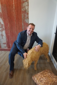 Jason Glass EVP with HAYSTACKID mascot.